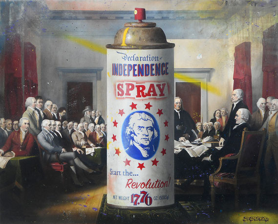 "Ben Steele, ""Independence Spray,"" 2019, oil on canvas, 40 x 50 inches, $11,500"