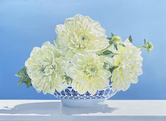 "Alexandra Averbach, ""Shine,"" 2020, oil on canvas, 26 x 36 inches - SOLD"