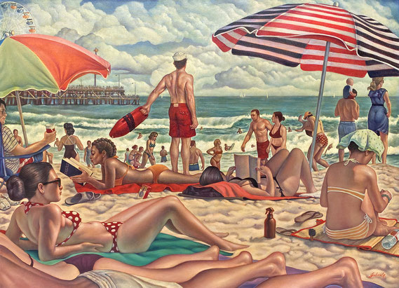 """Danny Galieote, """"One Fine Day,"""" 2021, oil on canvas, 36 x 48 inches - contact for price"""
