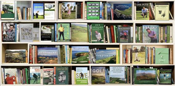 "MaxSteven Grossman, ""Golf BL,"" metallic photograph print on acrylic mount, 37 x 75 inches"