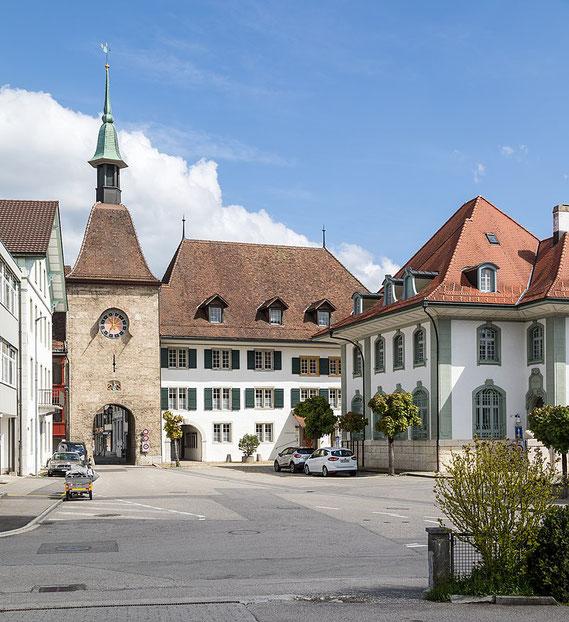 Blick in Altstadt, SVP Wangen an der Aare und Umgebung