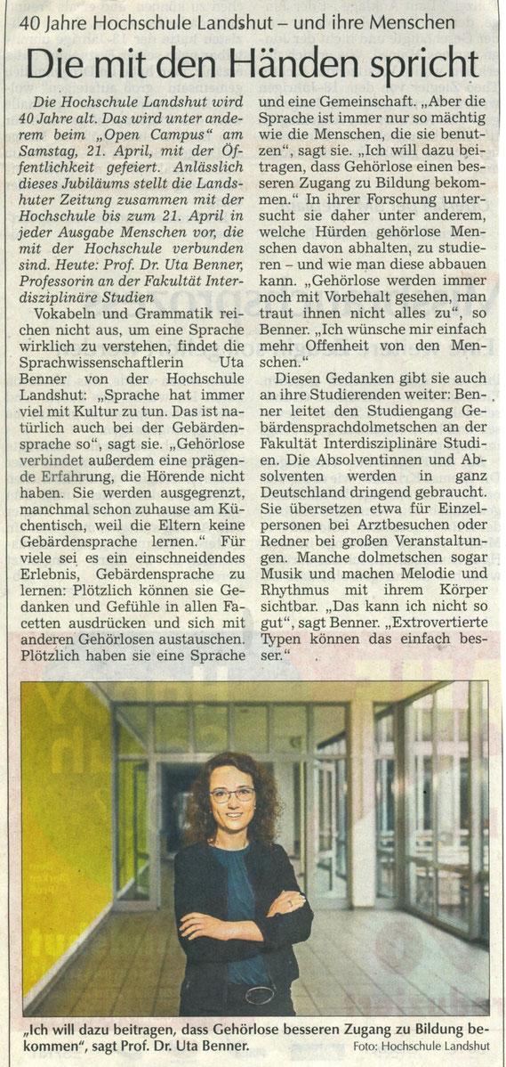 Quelle: Landshuter Zeitung 14.04.2018