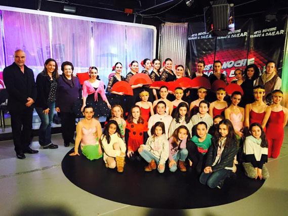 Profesoras y alumnas del Centro Autorizado de Danza Armengou