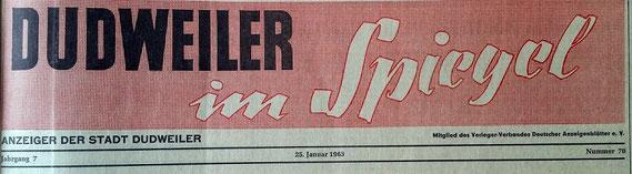 dudweiler, monatszeitung, dudweiler im spiegel, 1957