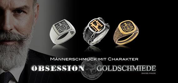 Schatzring Kollektion der Goldschmiede OBSESSION