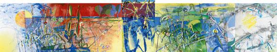Le grand marais II - 2014 - Acrylique sur toile - 2,50x12,70 m