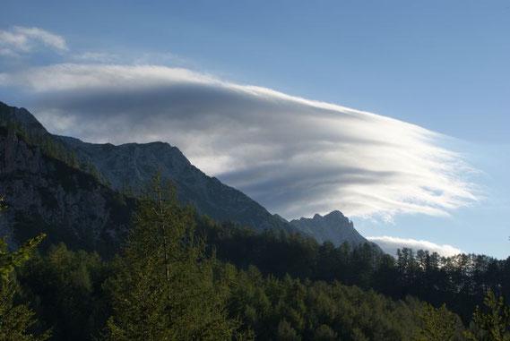 Föhnwolken über den Karawanken