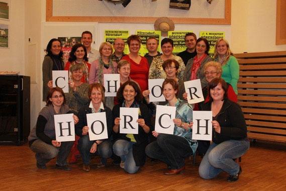 Das 1. gemeinsame Foto von HORCH bei der 1. Probe im Jänner 2012