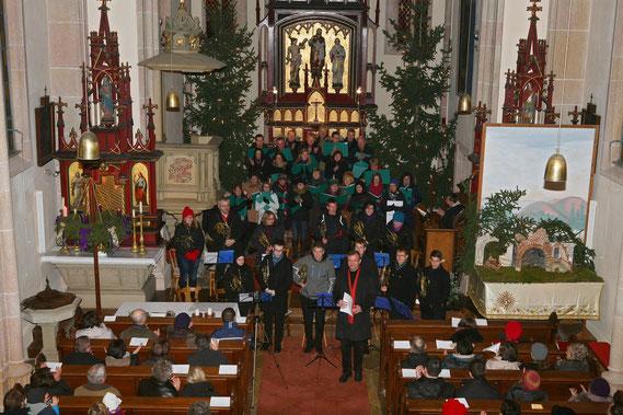 Adventkonzert am 23.12.2012 in Siebenhirten gemeinsam mit der Weinviertler Horn Connection