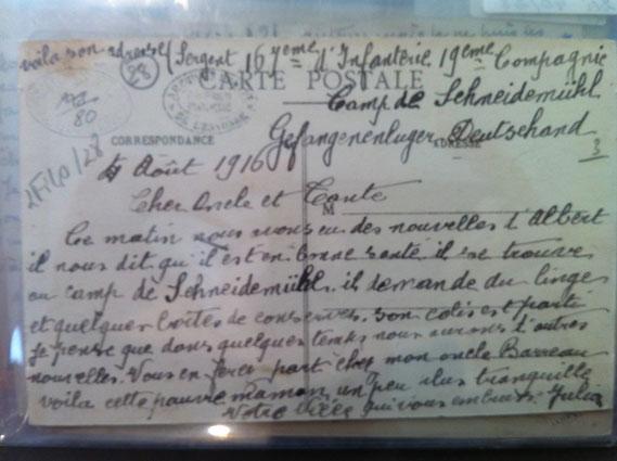 Carte postale extraite du fonds d'archives départemantales de Chamarande