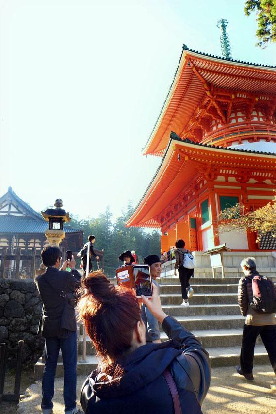 Koyasan Highlight Pagode Konpon Daito Tempelkomplex Danjo Garan