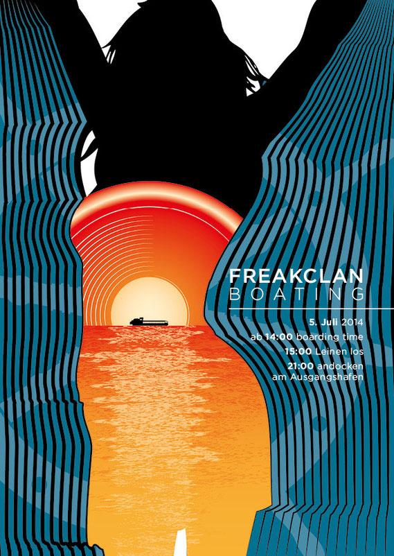 Flyer- und Plakatdesign: Bootsparty auf dem Neuenburger-, Bieler- und Murtensee | Lockedesign 2014