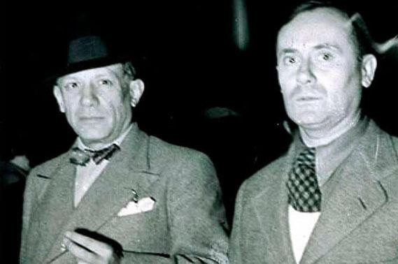 Пабло Пикассо и жоан Миро