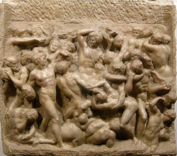 Самые известные работы Микеланджело - Битва Кентавров