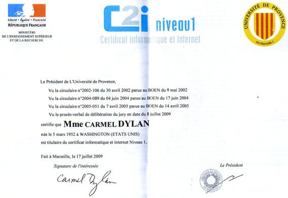 C2i certificate Juin 2009 - Aix