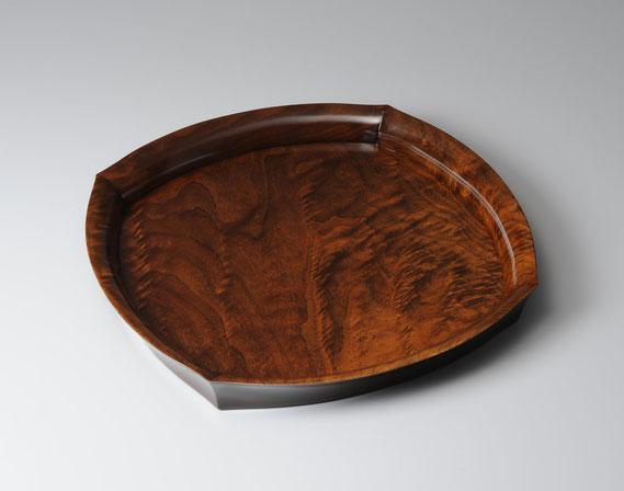 盛器 ウォールナット 漆 盆 木工 家具 京都 古谷禎朗