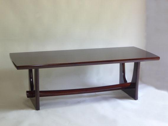 一枚板テーブル ウォールナット 漆 木工 家具 京都 古谷禎朗