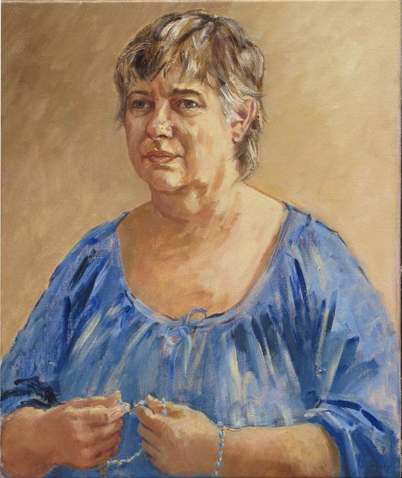 Tony Wahlander (Wåhlander) peint aussi de nombreux portraits, ici celui de Geneviève