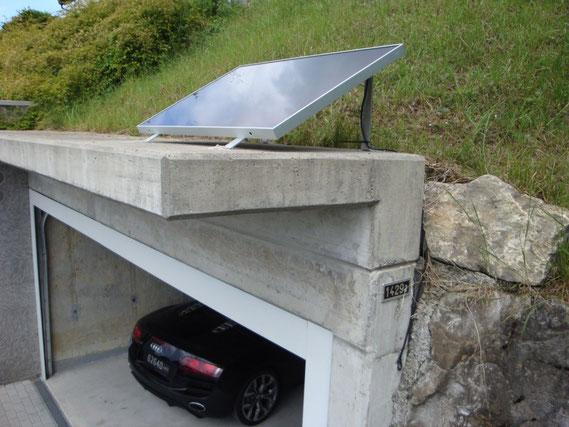 Solarpaneel auf Garagendach für Torantrieb - Ohne zusätzlichen Strom ab Netz