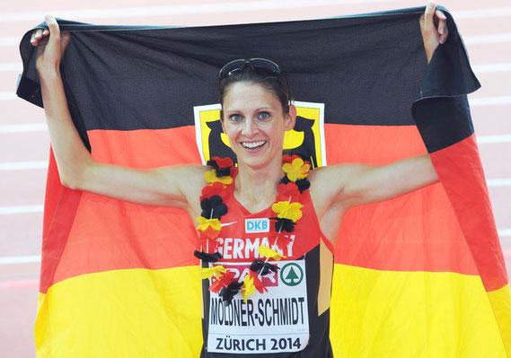 Antje Möldner-Schmidt, Europameisterin, 3000m-Hindernislauf