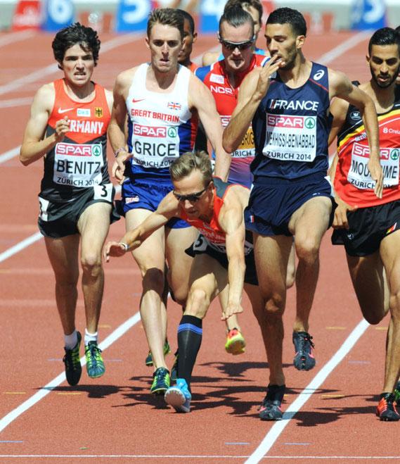 Florian Orth, 1500m-Läufer, Sturz im Finale