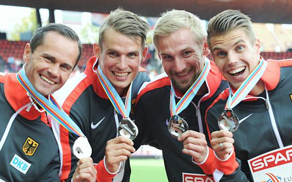 4x100m-Staffel, EM-Silber 2014
