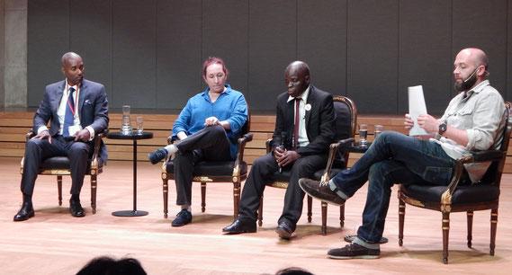 Ndume Olatushani (Tennessee, USA), Sandrine Ageorges-Skinner, Byson Kaula (Malawi)