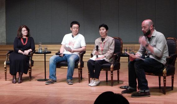 2. von rechts: Hideko Hakamada, Schwester von Iwao Hakamada, der fast 50 Jahre im Todestrakt von Japan saß...