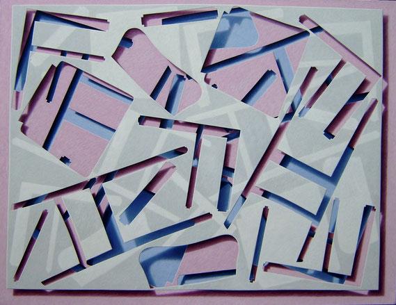Stadtplan oder der Wunsch nach Muße, 1982, 140/180 cm, Ölfarbe auf Leinwand