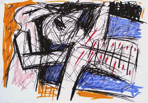 Kranker Mann, 1986, 100/70 cm, Kreide auf Zeichenpapier