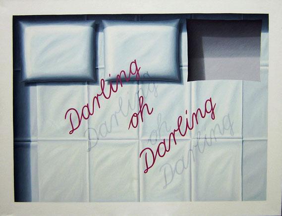 Darling oh Darling, 1982, 135/185 cm, Ölfarbe auf Leinwand