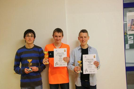In der Mitte: Uli Weller gewinnt die U18, dabei hätte er auch U14 spielen können!