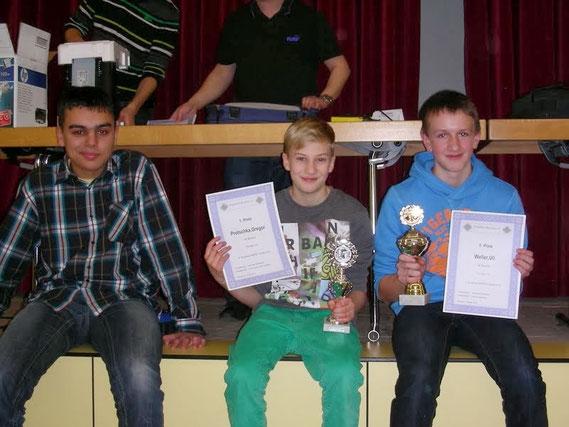 V.l.n.r.: Simon Bogner, Gregor Protschka, Uli Weller