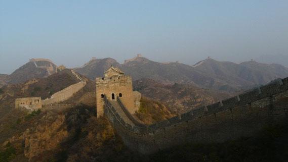 La grande muraille de chine joue aux montagnes russes