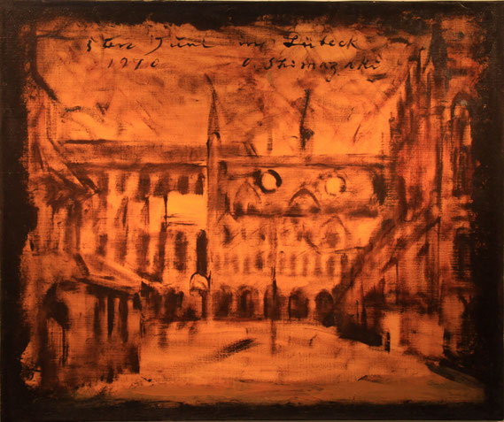 In Lubeck / oil on canvas / 60.6×72.7cm / 1970