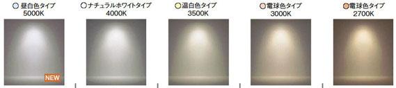 色温度別、明かりのイメージ 出典:遠藤照明