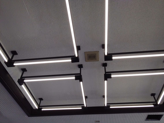 ホテル瀬波観光 ロビーのLED照明
