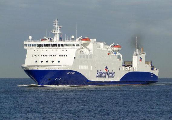 Baie de Seine en approche du Havre.