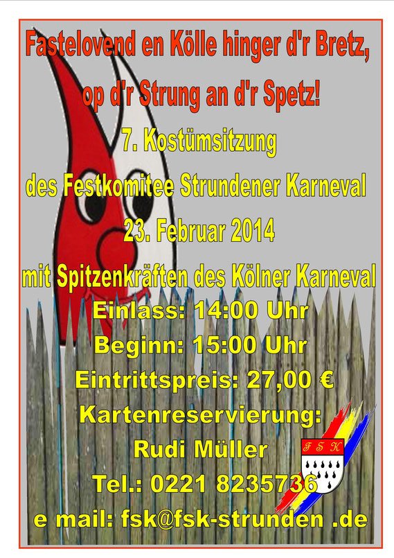 7. Kostümsitzung Festkomitee Strundener Karneval