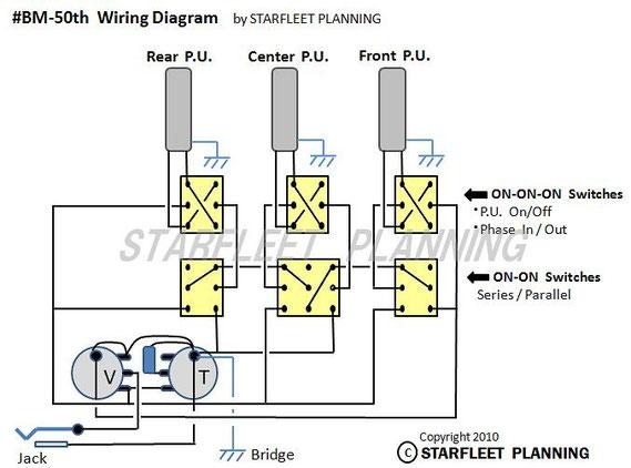 ブライアン・メイ レッドスペシャル レプリカ・コピーモデル Brian May, RedSpecial,自作・改造・製作,ピックアップ,シリーズ,配線,接続,wiring diagram