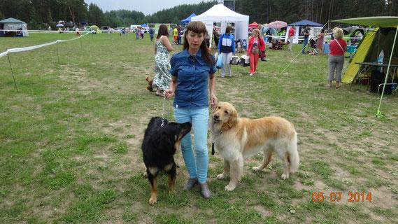Internationale Hundeschau in Vladimir: Benjamin Platz 1 Offene Klasse ( CAC) Herzlichen Glückwunsch!