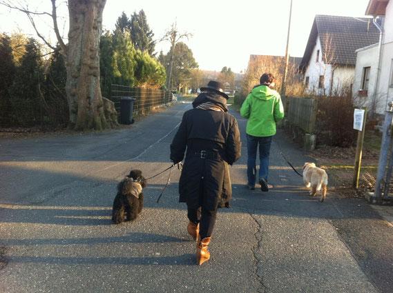 walking together/ dann gehen wir jetzt zusammen weiter....; 07.04.2013