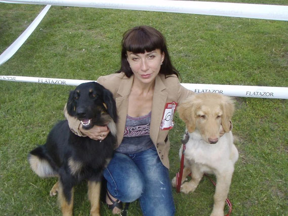 Inessa and her lovely dogs