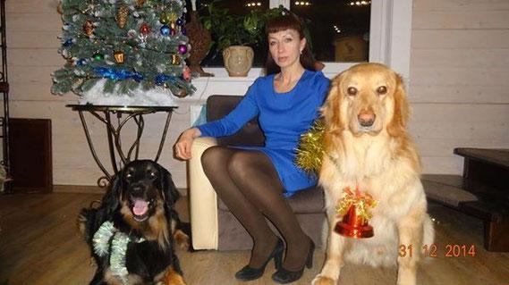 Jahreswechsel in Moskau! Happy new year Inessa, Benjamin and Bagheera!