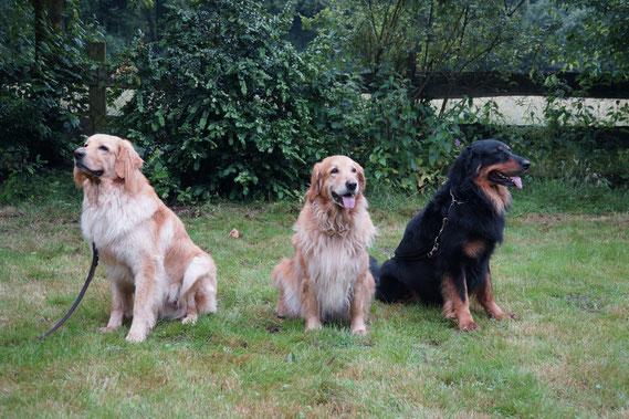 von rechts nach links: Vater, Mutter, Booker-Kind; 28.07.2014