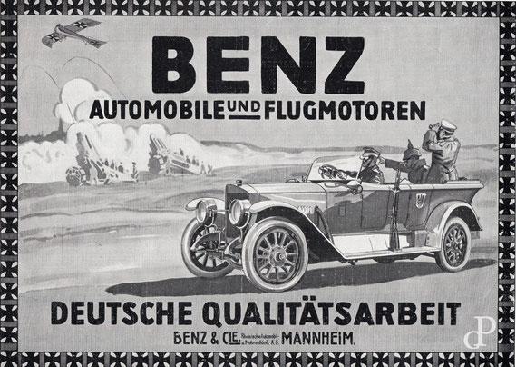 Werbeanzeige von Benz & Cie. Rheinische Automobil- u. Motorenfabrik A.-G. (Die Woche, 1916) / © Sammlung PRISARD