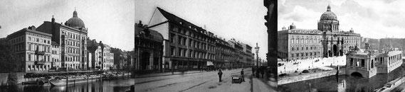 Berliner Schlossfreiheit, um 1890 und 1900 / Quelle: Wikimedia/Wikipedia (gemeinfrei)