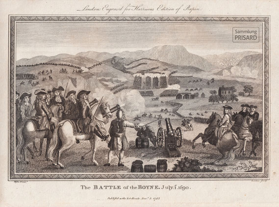 IMA.18.022 Schlacht am Boyne (»Battle of the Boyne«, Juli 1690) (Stich, 1785) / © Sammlung PRISARD