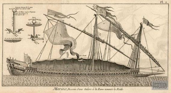 IMA.18.009 Galeere La Réale (Kupferstich, 1772) / © Barry Lawrence Ruderman Antique Maps Inc., La Jolla, CA (USA)