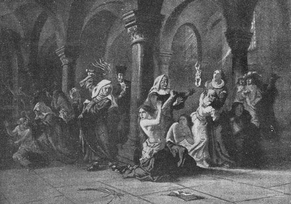 IMA.20.047 Zwangsbekehrung in einem Ursulinenkloster (Gravur, ND [1907-1909]) / © Sammlung PRISARD